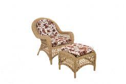 Кресло INDIA с пуфиком